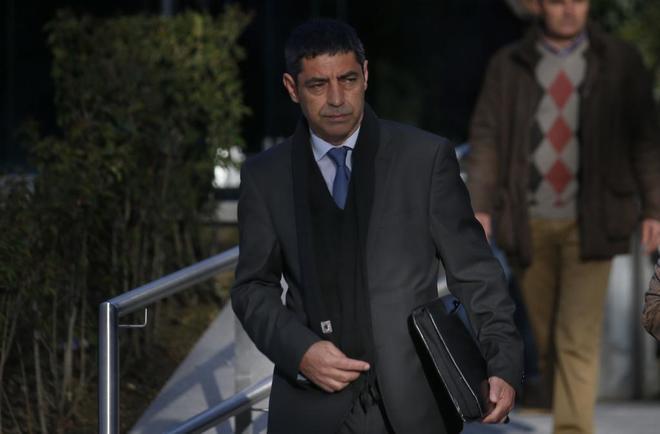 Josep Lluís Trapero llegando a la Audiencia Nacional el pasado marzo