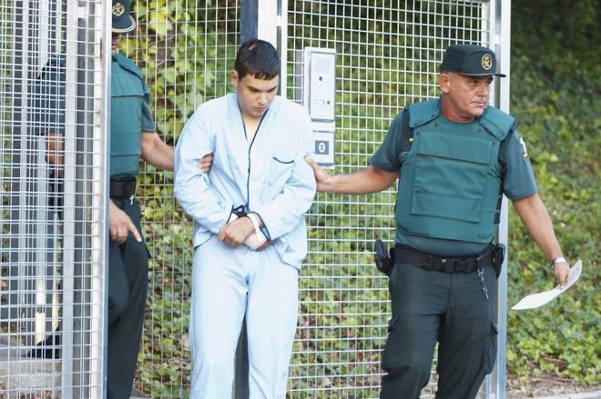 Mohamed Houli durante su traslado a la prisión de Alcalá Meco en agosto de 2017