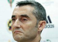 Ernesto Valverde, entrenador del Barcelona, en una comparecencia pública este verano.