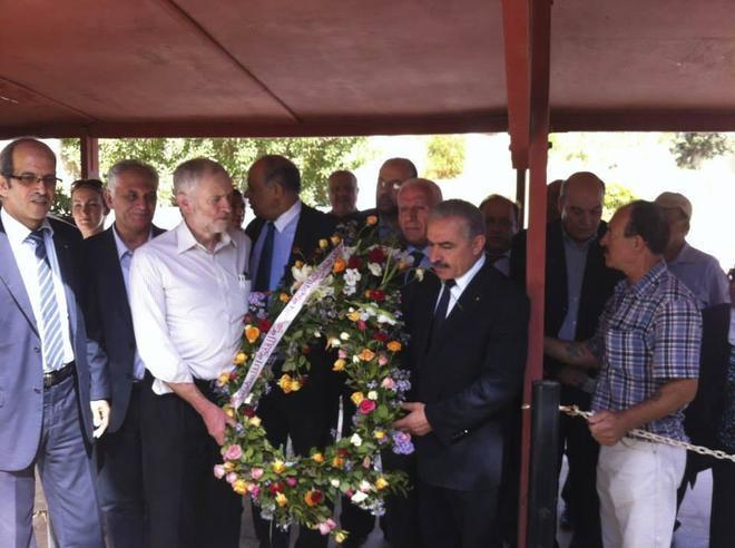 Corbyn, en un homenaje a los terroristas de los atentados de Múnich.
