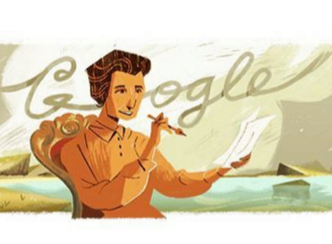 Imagen del doodle de Google homenajeando a Carmen Conde