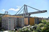 Puente Morandi de Génova derrumbado