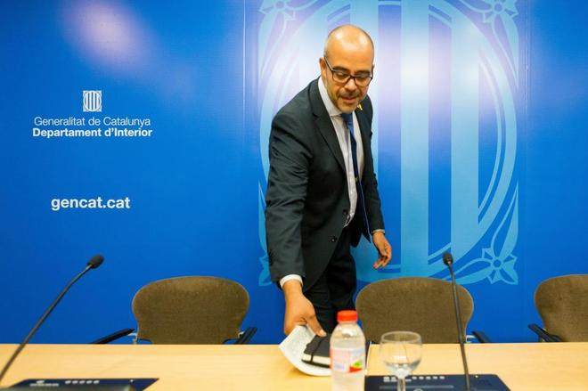 El consejero de Interior de la Generalitat de Cataluña, Miquel Buch,