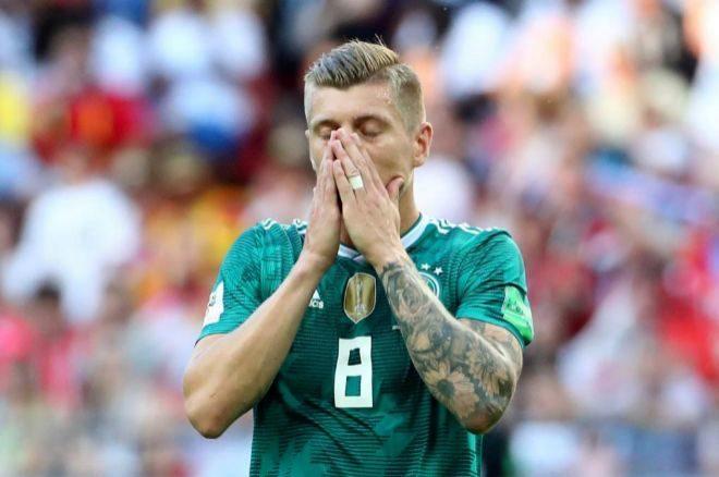 Toni Kroos lamenta una ocasión en el Mundial de Rusia.