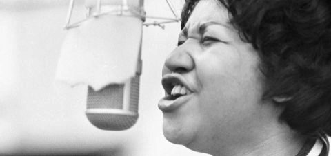 Franklin durante la grabación de 'The Weight' en 1969. GETTY