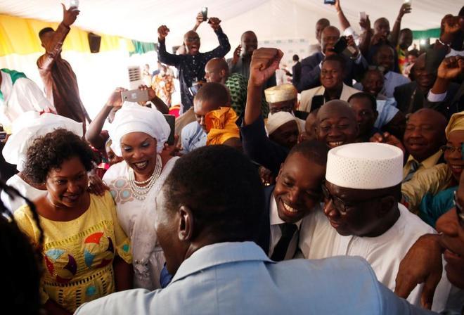 El presidente Bubacar Keita, reelegido en Malí