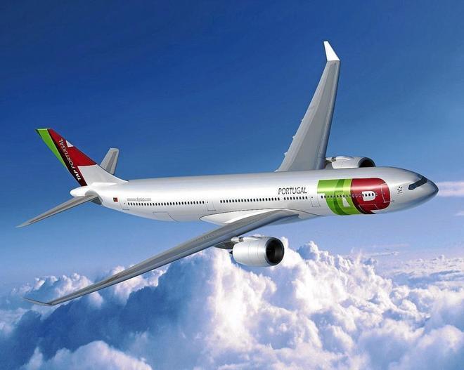 Imagen de un avión de la línea aérea TAP Portugal