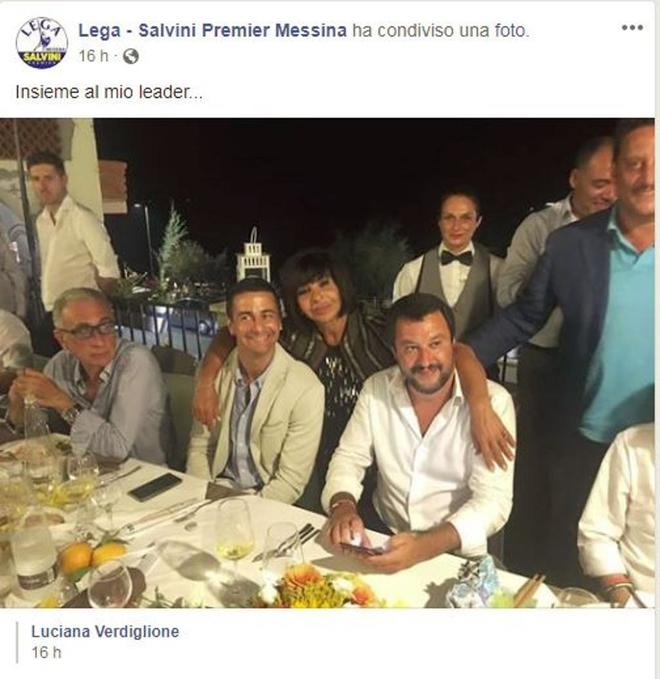 El ministro del Interior, Matteo Salvini, se fue de fiesta