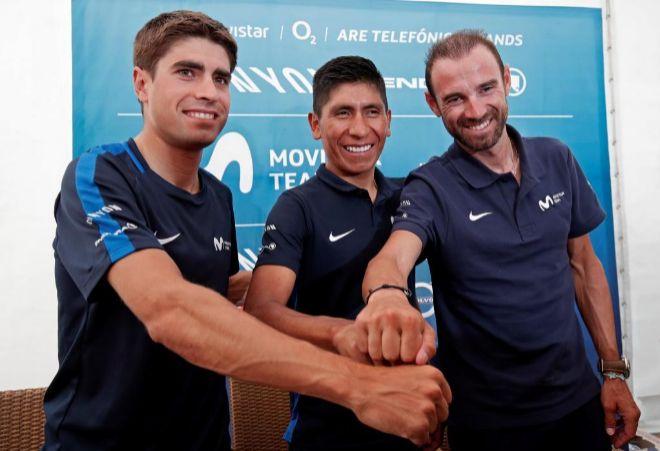 Landa, Quintana y Valverdem en un acto publicitario.