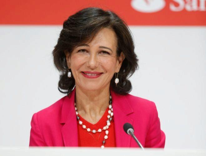Ana Botín, en una rueda de prensa en Madrid, en junio de 2017.