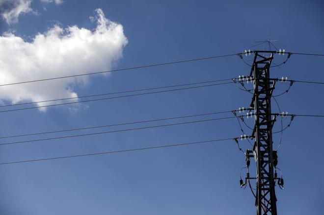 Torre eléctrica en Madrid.