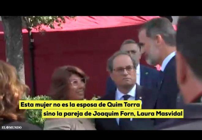 VÍDEO: El mensaje político de Torra al Rey: le presenta