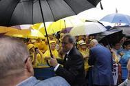El president de la Generalitat, Quim Torra, ayer en Lledoners