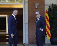 Pedro Sánchez recibió a Quim Torra en Moncloa el pasado julio.