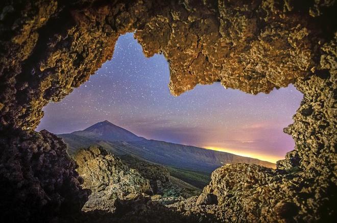 Vista panorámica del volcán del Teide.