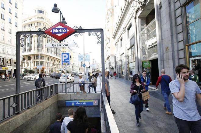 Metro de Madrid cerrará la estación de Metro de Gran