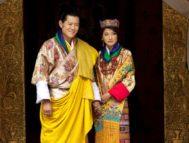 El rey Jigme de Bután y la reina Jetsun Pema el día de su boda, en 2011