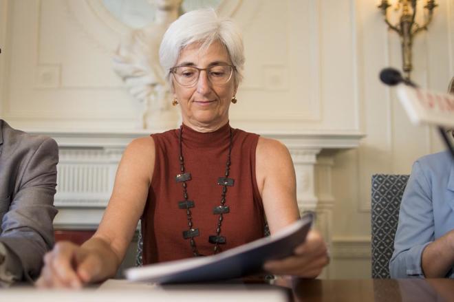 La fiscal general del Estado, María Dolores Segarra, en la...