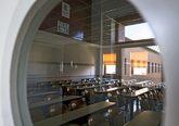 Un aula de la Universidad Rey Juan Carlos vacía por el período...
