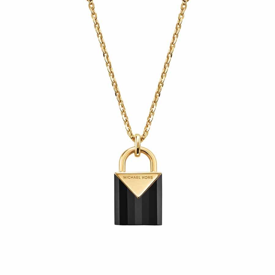 Este collar de plata de ley con chapado en oro de 14 quilate está...