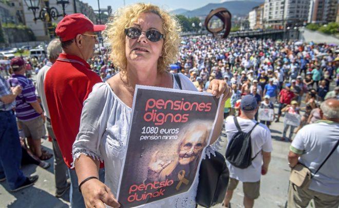 Pilar San José Arbeiza, viuda y pensionista vizcaína