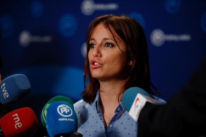 Andrea Levy, en una rueda de prensa reciente.