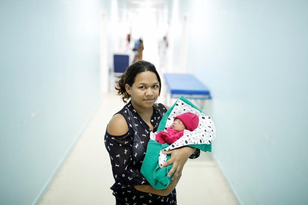 Los nacimientos de niños venezolanos en el hospital de Boa Vista, en...