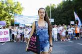 Sara Naila, estudiante de 20 años y una de las mujeres más activas...