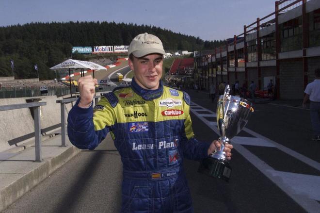Fernando Alonso, en Spa, en 2000.