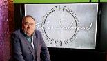 El ex primer ministro escocés Alex Salmond en la presentación de su...