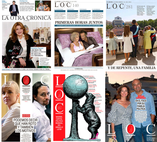 Algunas de las portadas más importantes de LOC