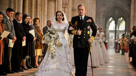 Una de las escenas de la serie 'The Crown' que produce Netflix.