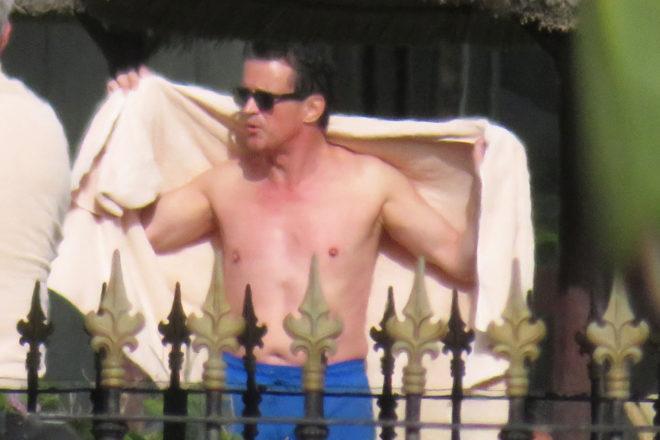 Manuel Valls, durante sus vacaciones en Marbella