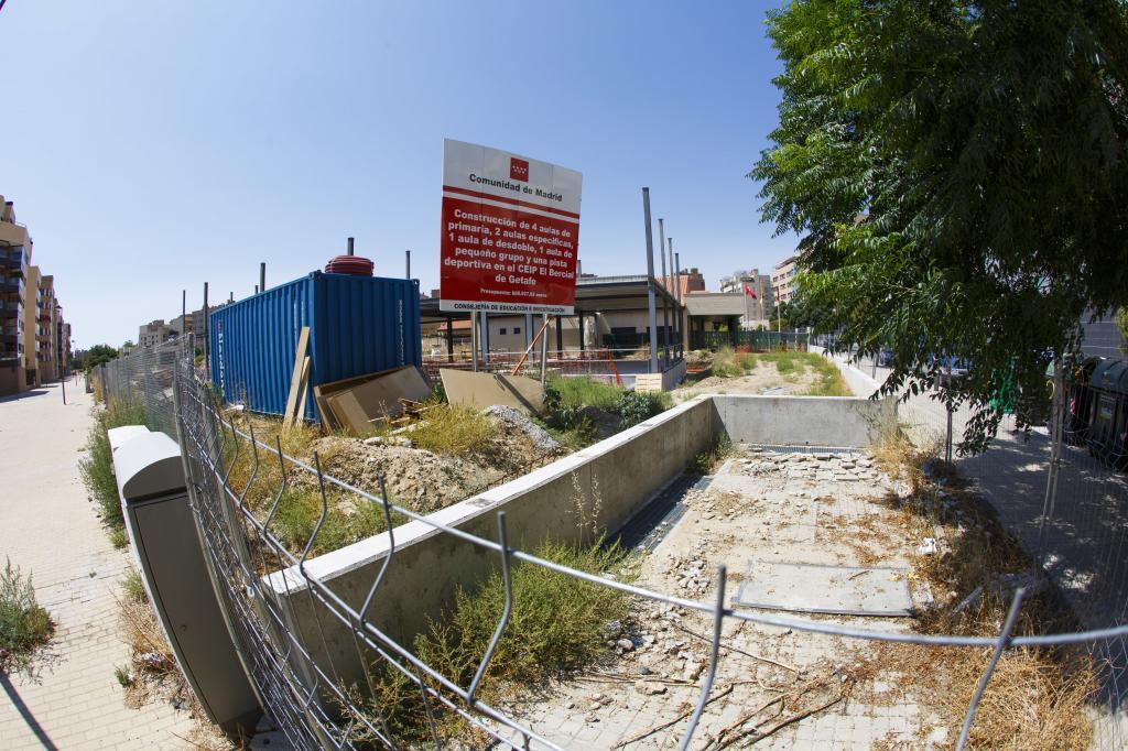 El Colegio El Bercial de Getafe es uno de los afectados por el retraso en obras.