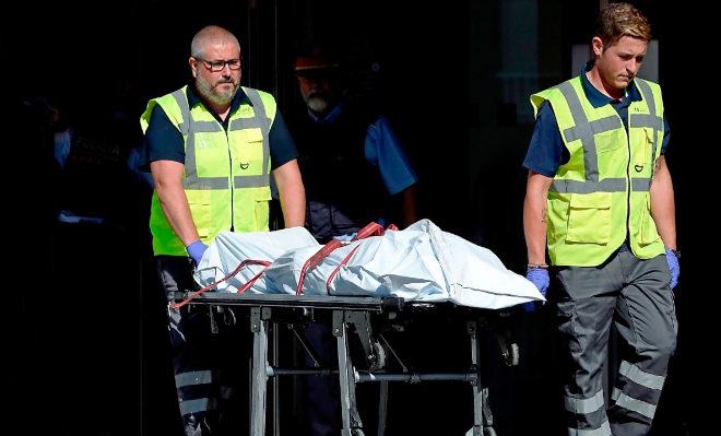 El cadáver de Abdelouahab Taib (conocido como Wahab), el  hombre que atacó la comisaría de Cornellá.