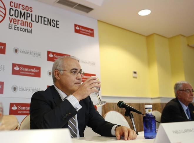 El juez Pablo Llarena, en un acto celebrado este verano en El...