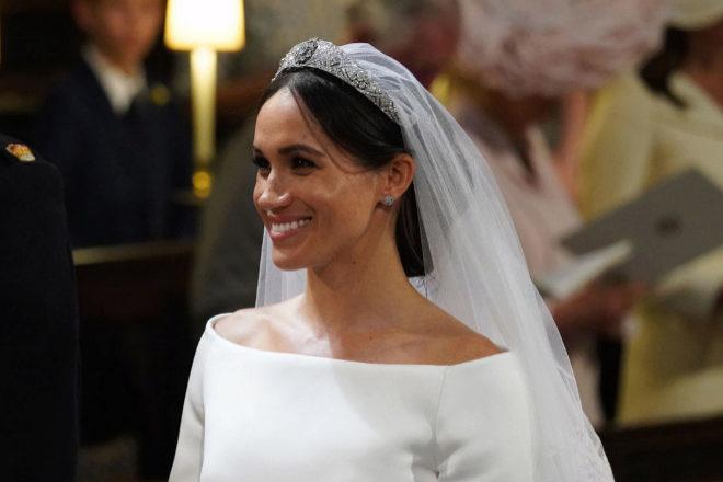 Meghan desvela el 'algo azul' que lució en su boda