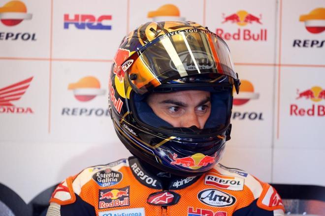 Dani Pedrosa, durante los entrenamientos en Silverstone, este sábado.