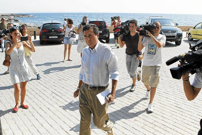 Jaume Matas, tras conocer la sentencia por tráfico de influencias en 2013.