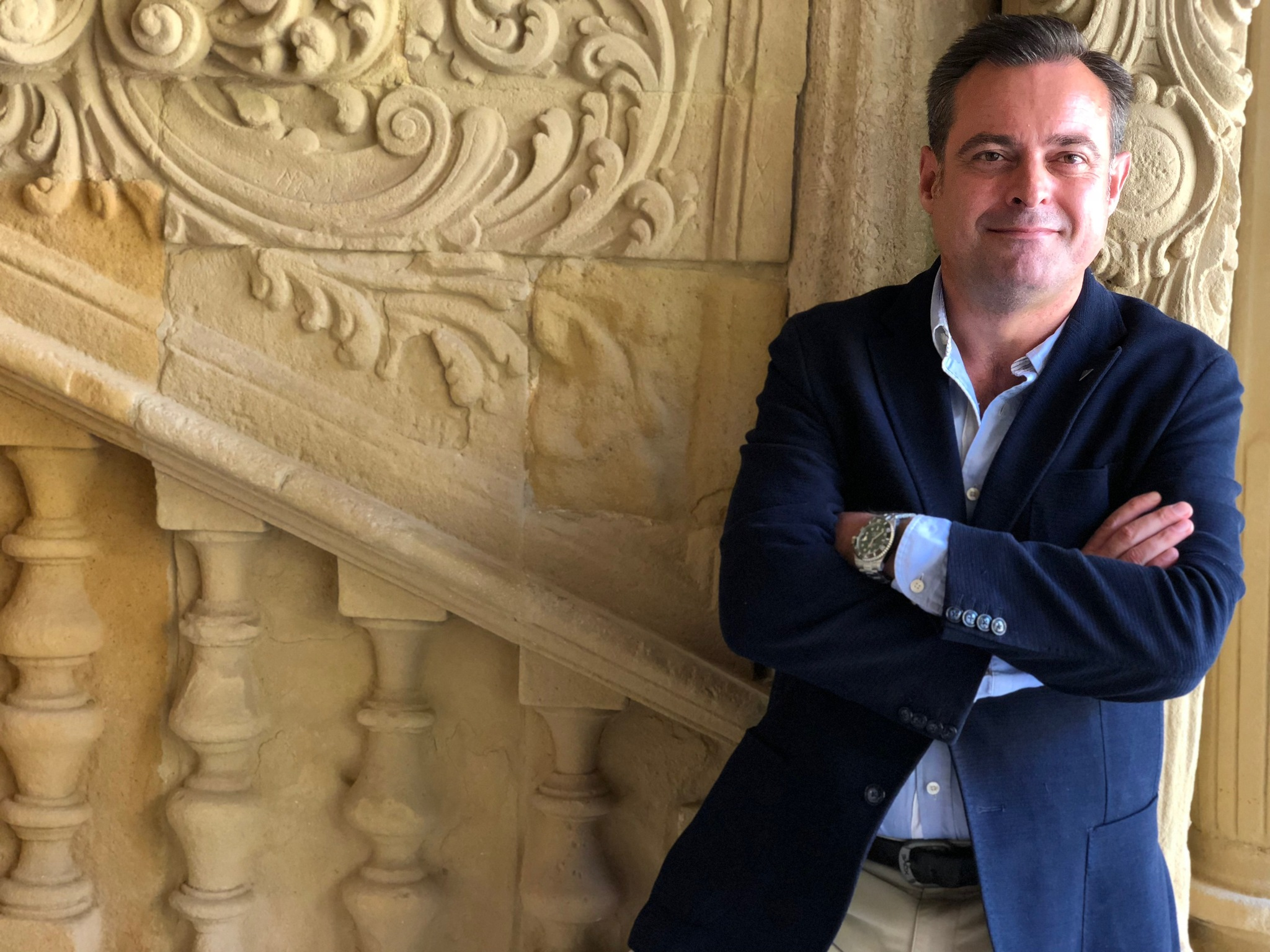 Juan Vilar en la sede Antonio Machado de Baeza, en los cursos de verano de la UNIA.