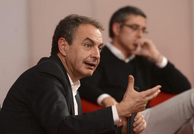 José Luis Rodríguez Zapatero, durante un acto del PSOE, en...