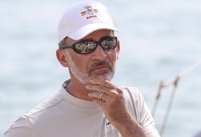 Don Felipe, en una foto de este verano en Mallorca.