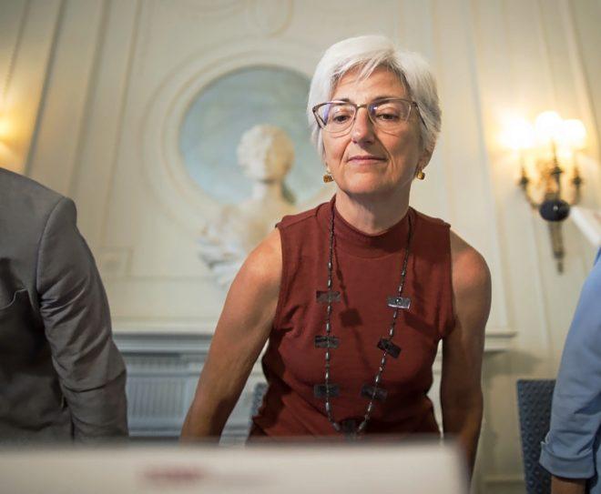 La fiscal general del Estado, María José Segarra, la pasada semana en Santander.