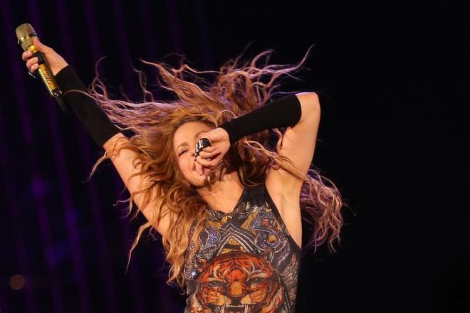 Shakira en su concierto del pasado julio en el Wizink Center de...