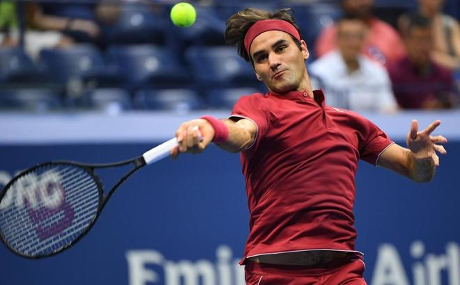Roger Federer, en primera ronda del US Open.