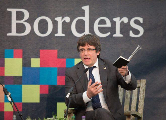 El ex presidente de la Generalitat Carles Puigdemont en el sur de...