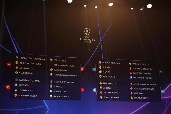 Champion Liga Calendario.Champions League Calendario Y Horarios De La Champions 2018