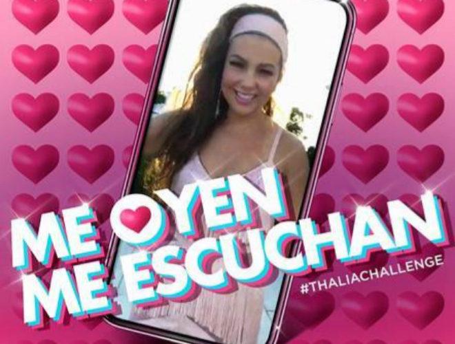 La portada del single 'Me oyen, me escuchan' de Thalía.