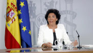 Isabel Celaá, en un momento de la rueda de prensa tras el Consejo de...