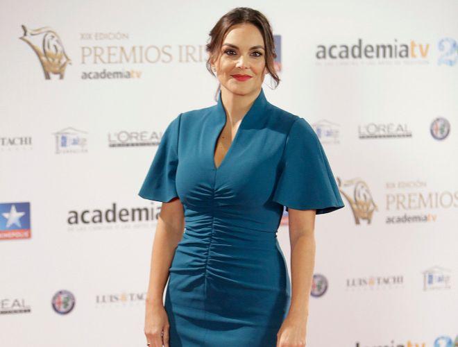 La peridista Mónica Carrillo durante la 19 edición de los premios Iris de la Academia de la Televisión.